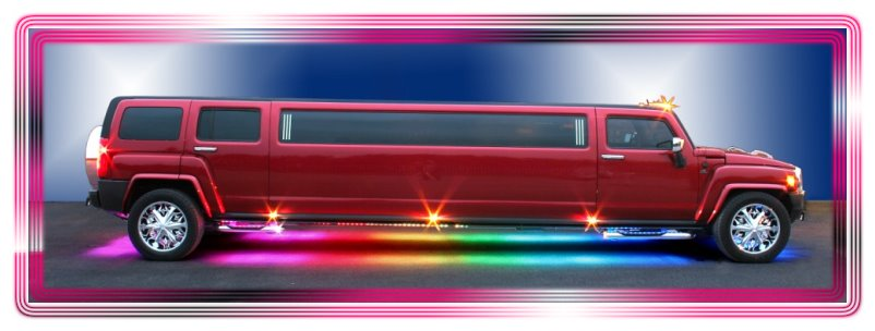 HUMMER H3 LIMOUSINE in CANDY APPLE RED. Hummer streetched limousine for hire